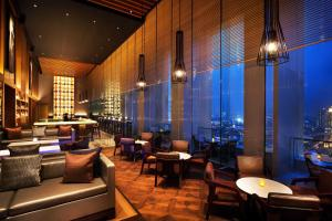 A restaurant or other place to eat at Fairmont Jakarta
