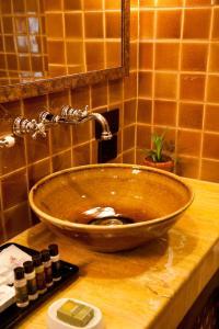 A bathroom at Hotel Druk