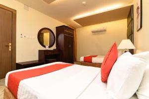 Cama ou camas em um quarto em Masar Najd