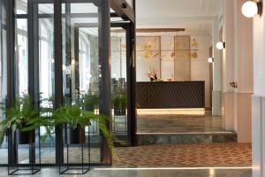 The lobby or reception area at Classik Hotel Alexander Plaza