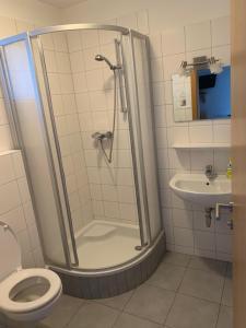 Koupelna v ubytování Apartments Adler Resort Kaprun