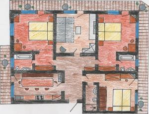 Grundriss der Unterkunft Apart Tuxertal