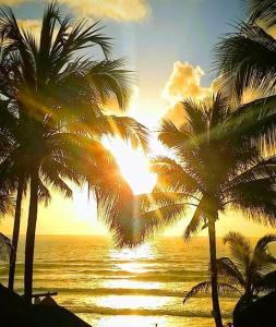 O pôr ou nascer do sol visto do hotel ou dos arredores