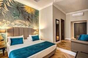 Cama o camas de una habitación en Relais De La Poste
