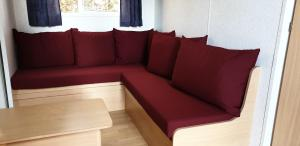 A seating area at Mobil Home - camping Le Soustran