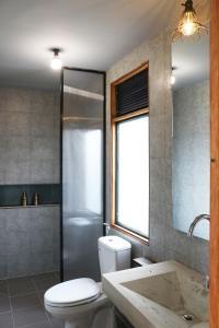 A bathroom at NANO ECO-HOSTEL