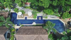 Blick auf Montra Hotel aus der Vogelperspektive