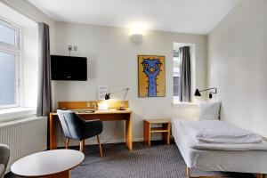 Et tv og/eller underholdning på Hotel Garni