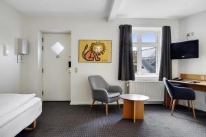 Et opholdsområde på Hotel Garni