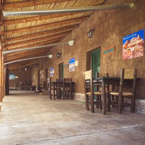 A restaurant or other place to eat at Ecoposada El Mercedario