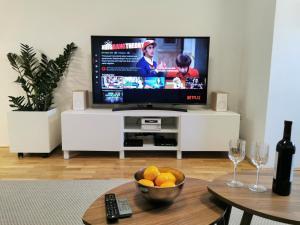 TV a/nebo společenská místnost v ubytování Apartment Lucky 13 Zagreb