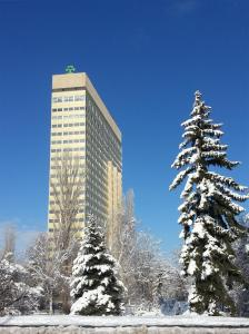 Park Hotel Moskva during the winter