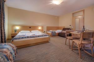 Een bed of bedden in een kamer bij Hotel Malovec