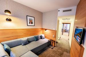 Een zitgedeelte bij Roombach Hotel Budapest Center