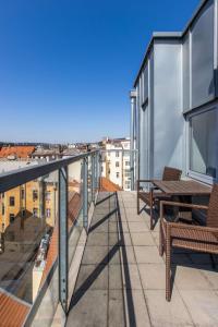 מרפסת או טרסה ב-Radisson Blu Hotel Prague