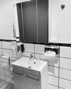 A bathroom at Landgasthaus Alter Posthof