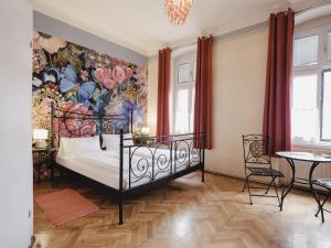 Кровать или кровати в номере Frühstückshaus Wunderland