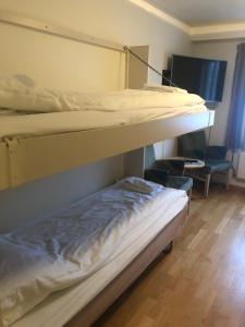A bunk bed or bunk beds in a room at Gjøvik Hovdetun Hostel
