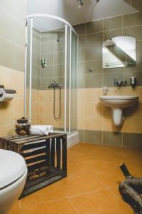 Łazienka w obiekcie Dworek Karłów