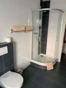 A bathroom at Pension Hannes