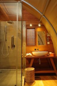 Ein Badezimmer in der Unterkunft Templation Hotel