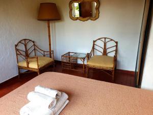 Un lugar para sentarse en Apart Hotel Sahara