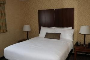 A bed or beds in a room at Best Western Plus Saratoga Springs
