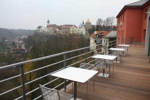 Балкон или терраса в Hotel Rajská zahrada