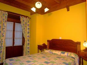 Cama o camas de una habitación en Las Casucas de Ason