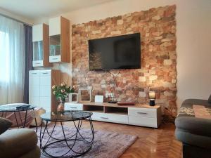 TV a/nebo společenská místnost v ubytování Apartment Angel Zagreb 2