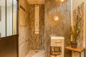 Koupelna v ubytování Hotel Boquier