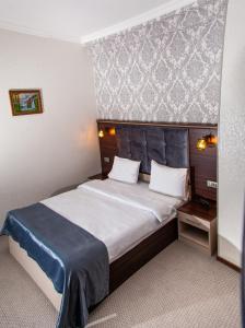 Cama ou camas em um quarto em Mildom Hotel Baku