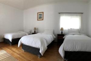 Cama ou camas em um quarto em Hostería Pionero