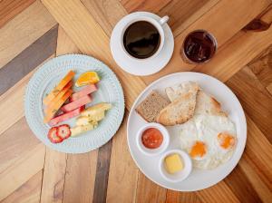 Opciones de desayuno para los huéspedes de Selina Cancun Downtown