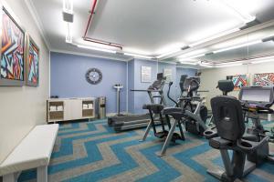 Gimnasio o instalaciones de fitness de Holiday Inn Express San Jose Airport, an IHG Hotel