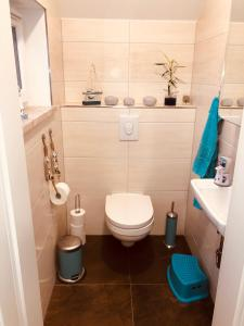 A bathroom at Goitzsche Resort