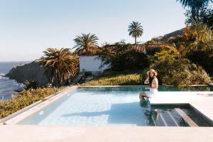 The swimming pool at or near Hacienda El Socorro