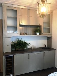 Virtuve vai virtuves zona naktsmītnē Park Apartments
