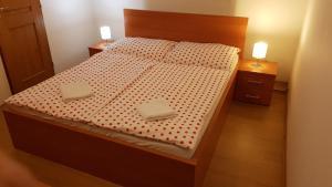 Postel nebo postele na pokoji v ubytování Villa Lienka
