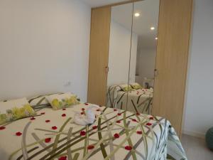 Cama o camas de una habitación en Balcón de la Len