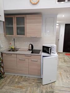 Кухня или мини-кухня в Appartment on Belorysskaya