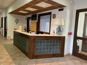 The lobby or reception area at Albergo Parco Gran Sasso