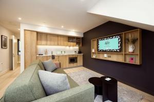 Coin salon dans l'établissement Wilde Aparthotels by Staycity Edinburgh Grassmarket
