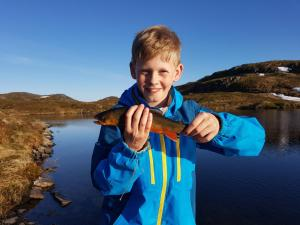 Children staying at Etne Hytter