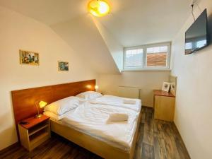 Postel nebo postele na pokoji v ubytování Hotel Restaurant Svejk