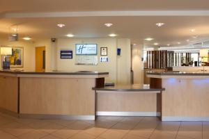 The lobby or reception area at Holiday Inn Express Cardiff Airport, an IHG Hotel