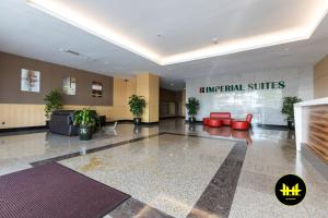 The lobby or reception area at Luco Apartments @ Imperial Suites Kuching