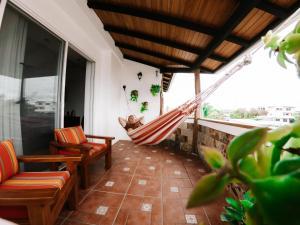 Ein Balkon oder eine Terrasse in der Unterkunft Hotel Cucuve