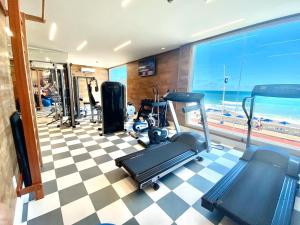 The fitness centre and/or fitness facilities at Monte Pascoal Praia Hotel Salvador