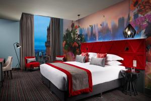 A bed or beds in a room at Malmaison Edinburgh City